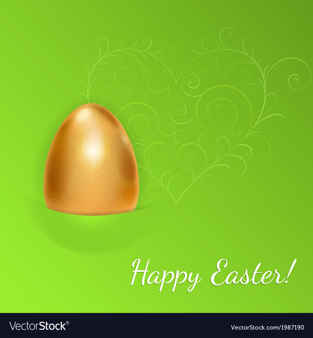 Easter background with golden egg vector | Price: 1 Credit (USD $1)