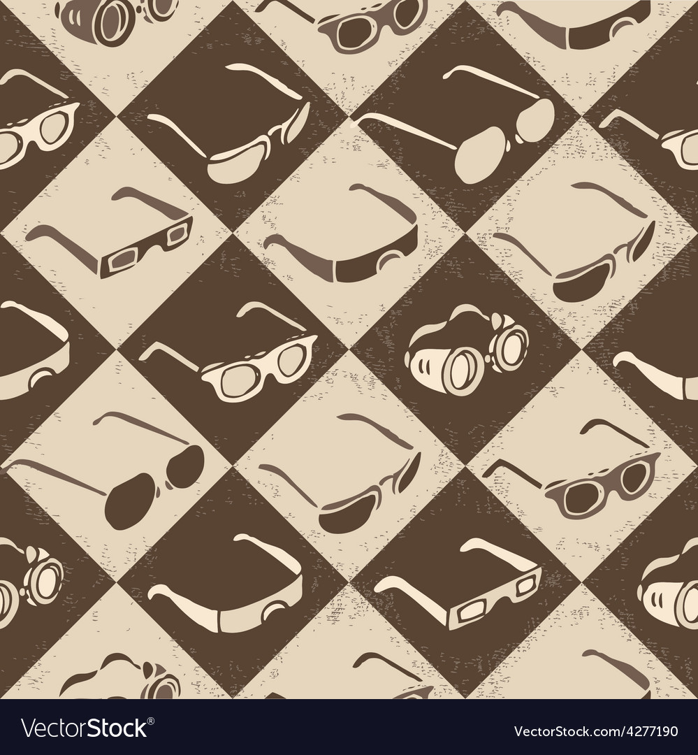 Glasses sunglasses and 3d-glasses seamless vector | Price: 1 Credit (USD $1)