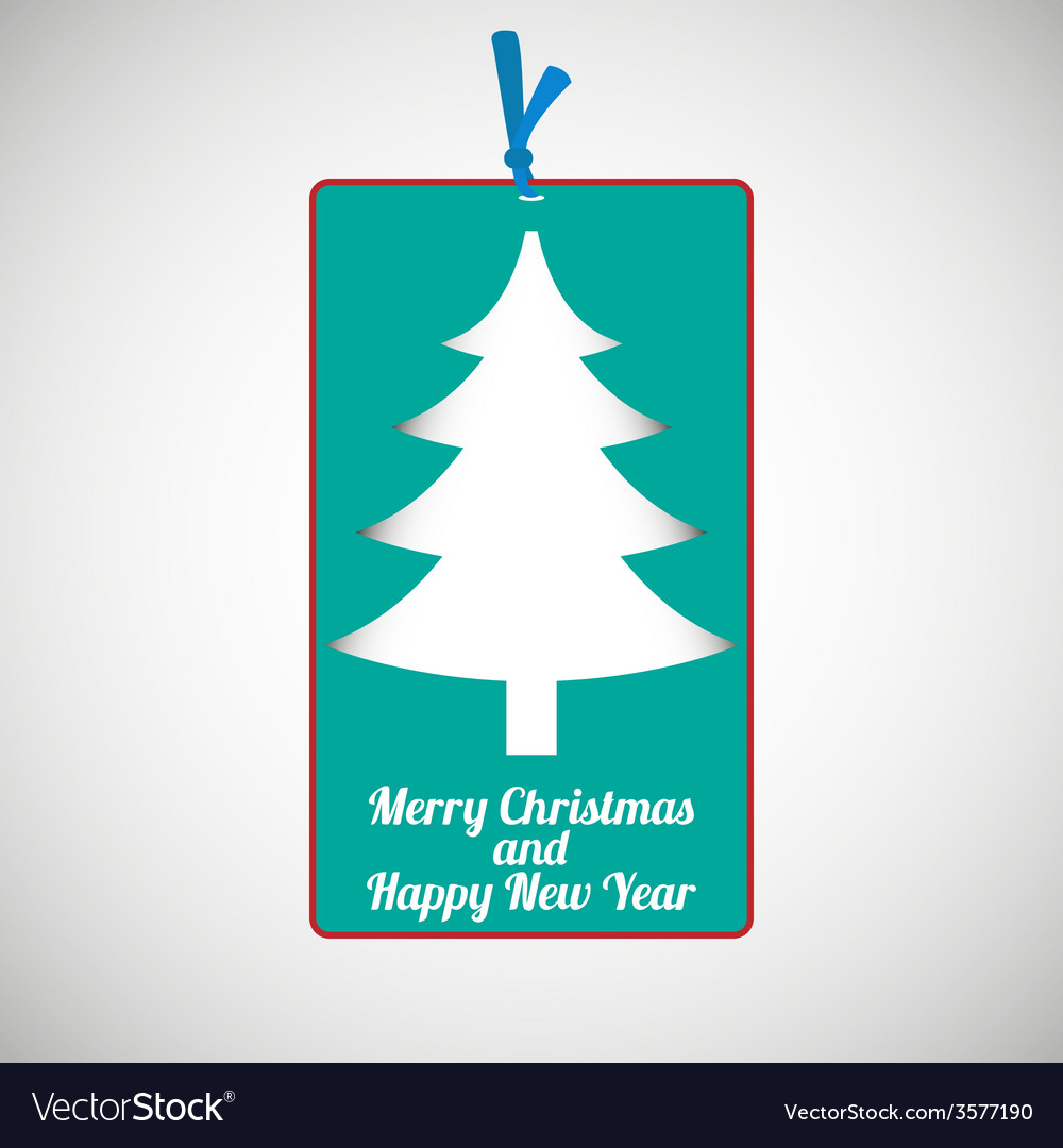 Paper cardboard christmas card vector | Price: 1 Credit (USD $1)