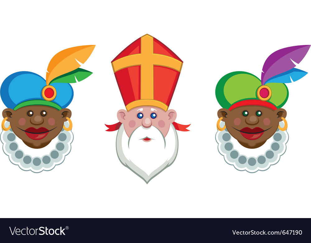 Sinterklaas and his helpers vector | Price: 1 Credit (USD $1)