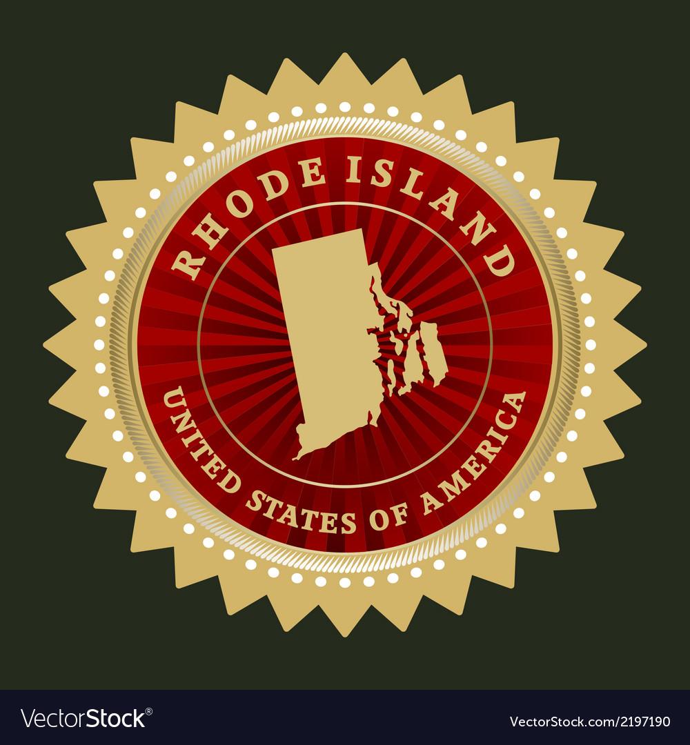 Star label rhode island vector | Price: 1 Credit (USD $1)