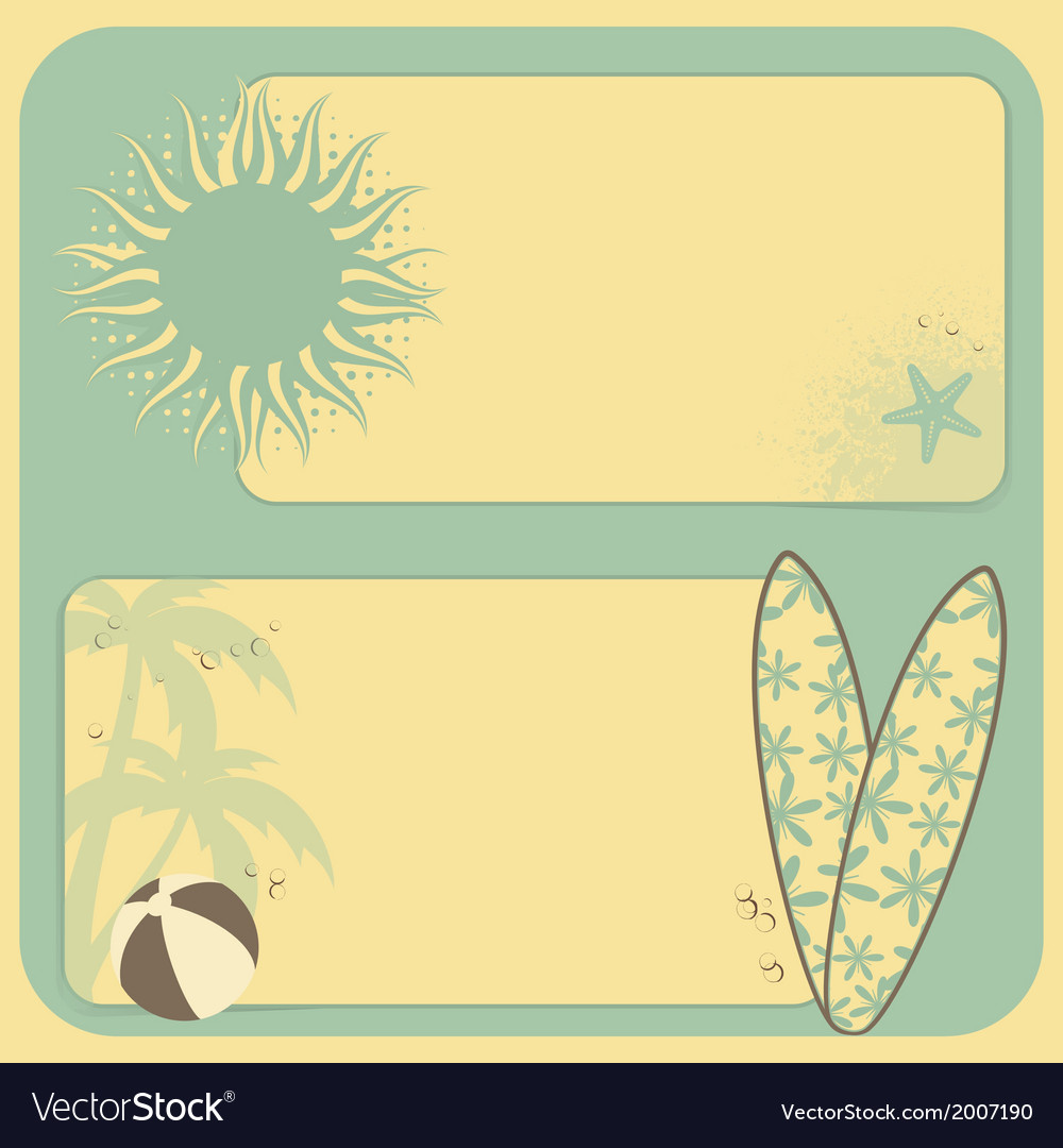 Summer retro background vector | Price: 1 Credit (USD $1)