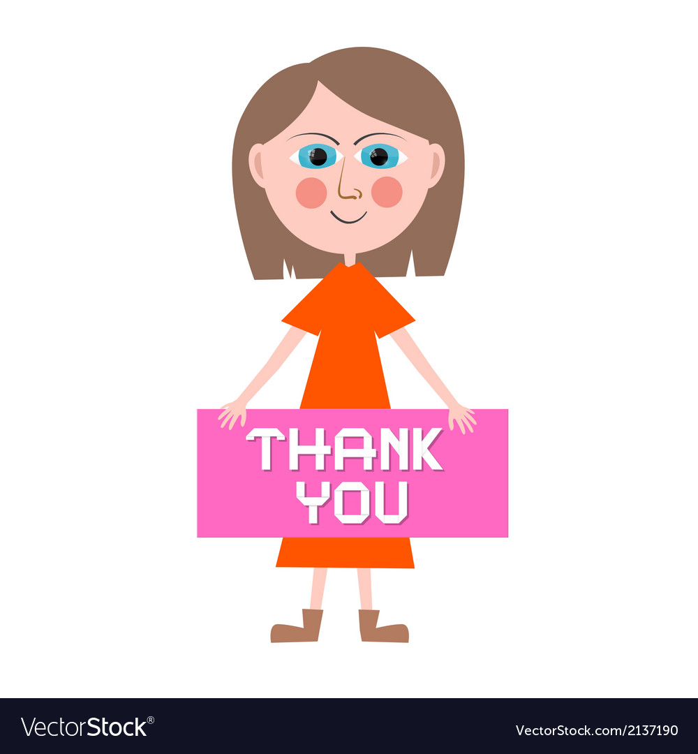 Thank you woman vector | Price: 1 Credit (USD $1)