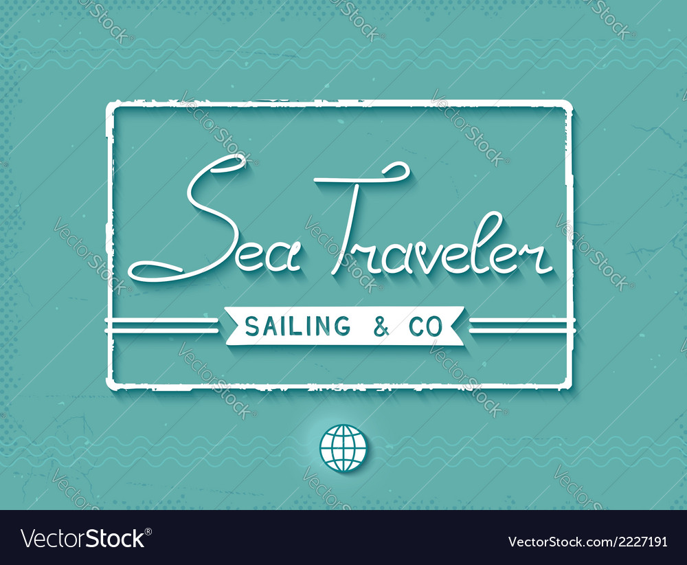 3d sea traveler print vector | Price: 1 Credit (USD $1)