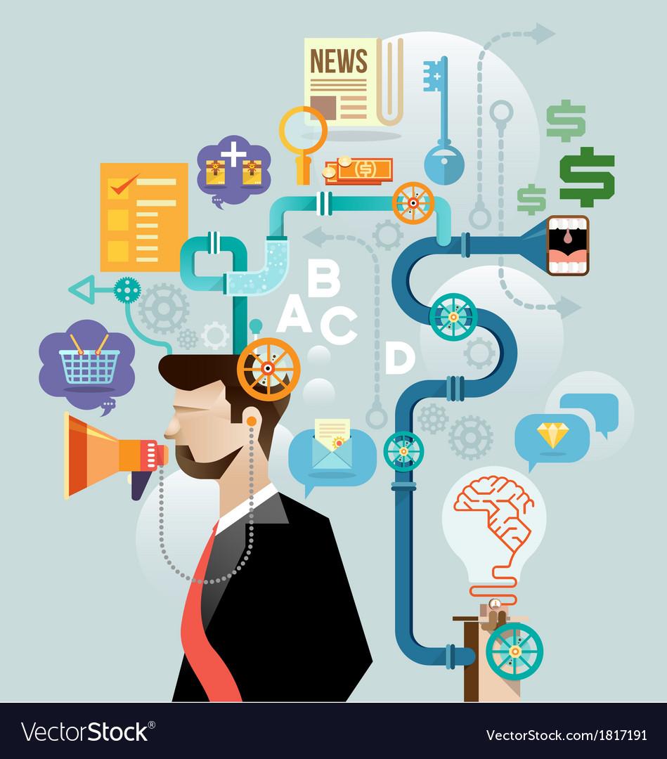 Businessman create ideas concept vector   Price: 3 Credit (USD $3)