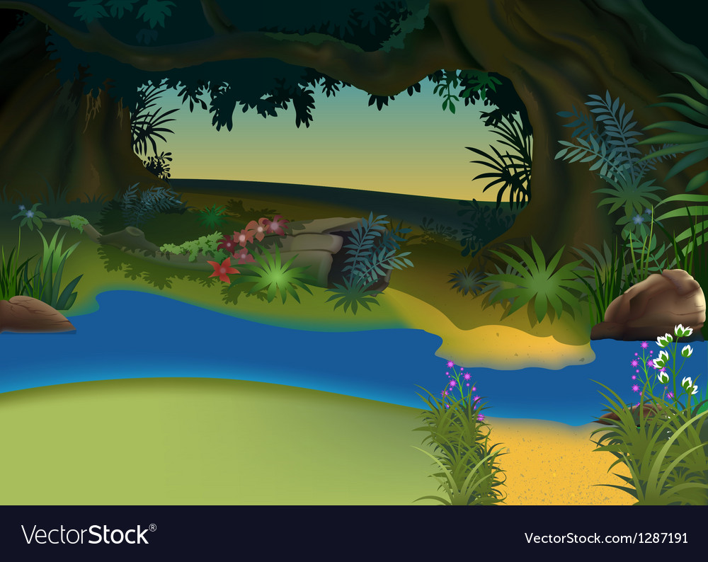 Mysterious forest vector | Price: 3 Credit (USD $3)