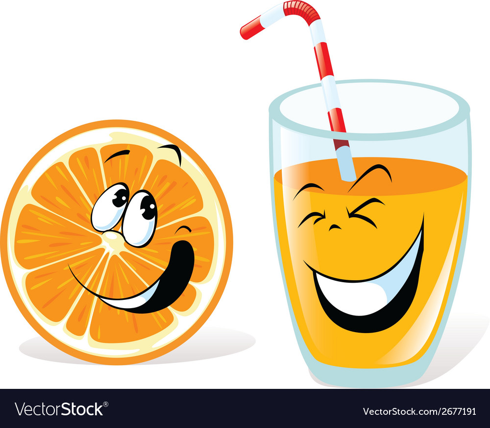 Orange and juice vector | Price: 1 Credit (USD $1)