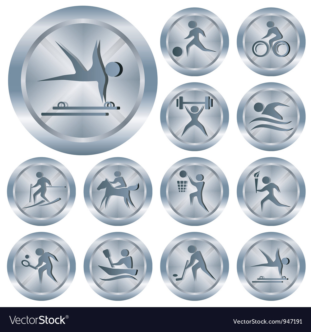 Sport buttons vector | Price: 1 Credit (USD $1)