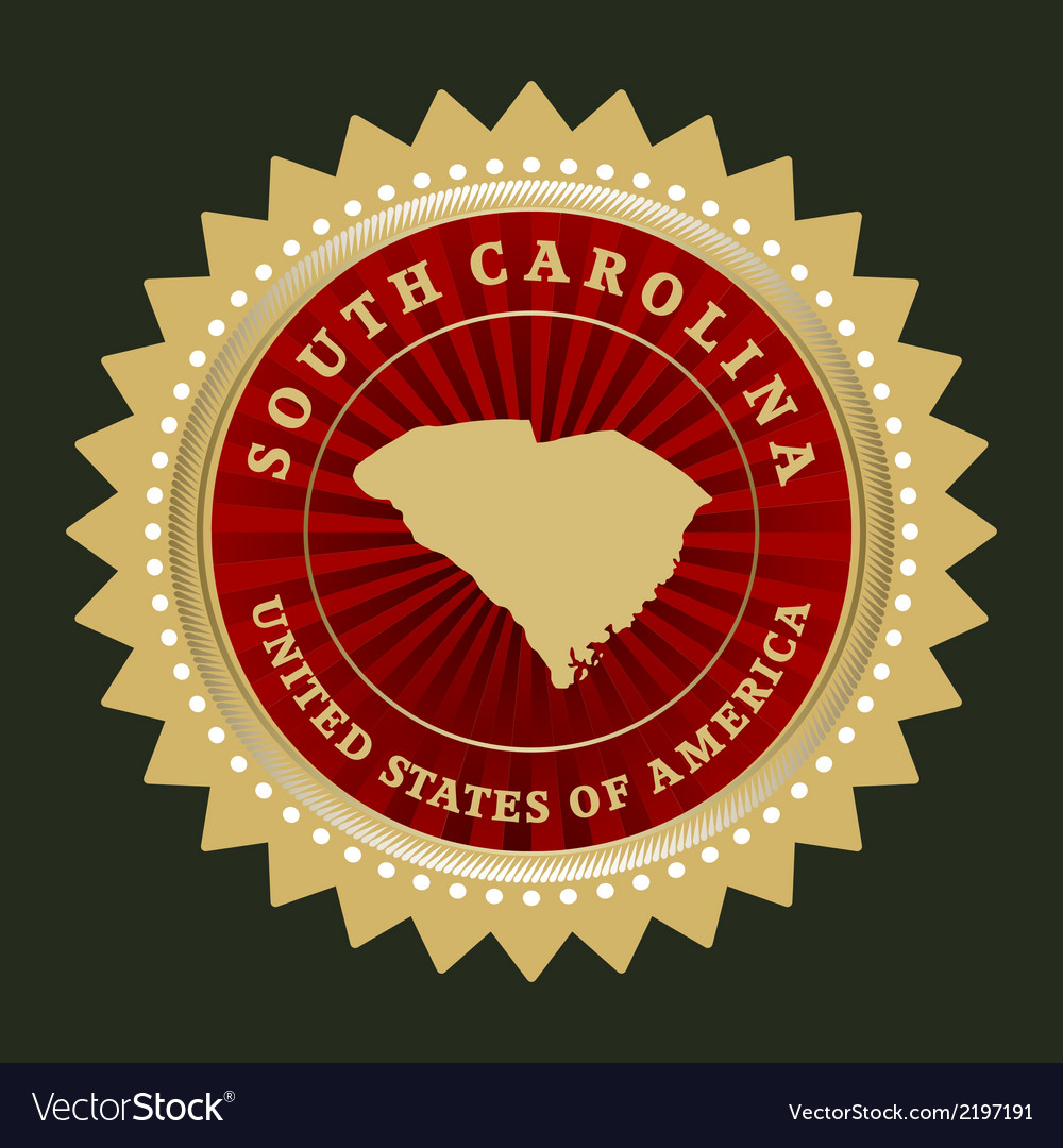 Star label south carolina vector | Price: 1 Credit (USD $1)