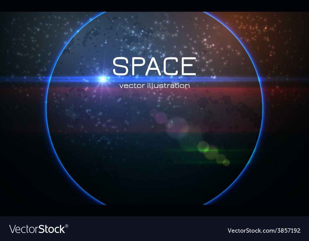 Abstract realistic space sunset background vector | Price: 1 Credit (USD $1)