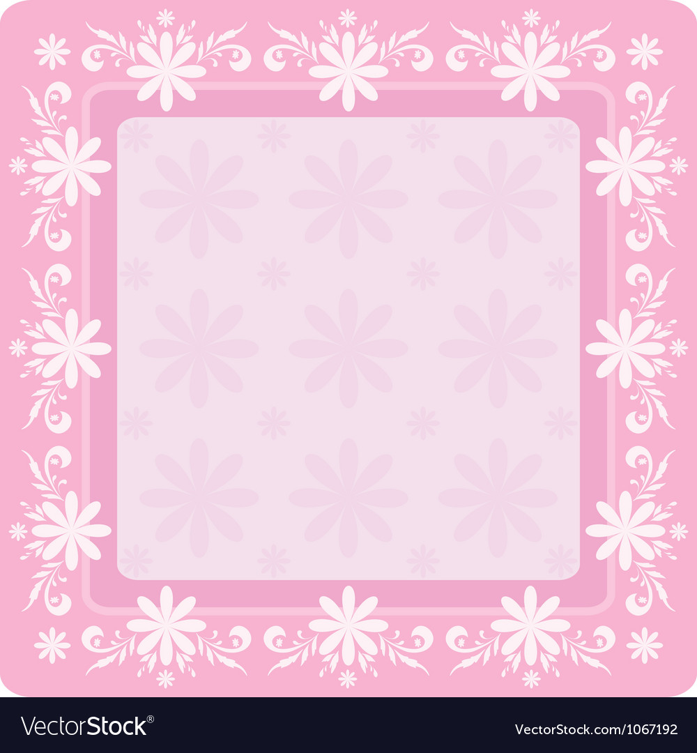 Background flowers and frame vector | Price: 1 Credit (USD $1)