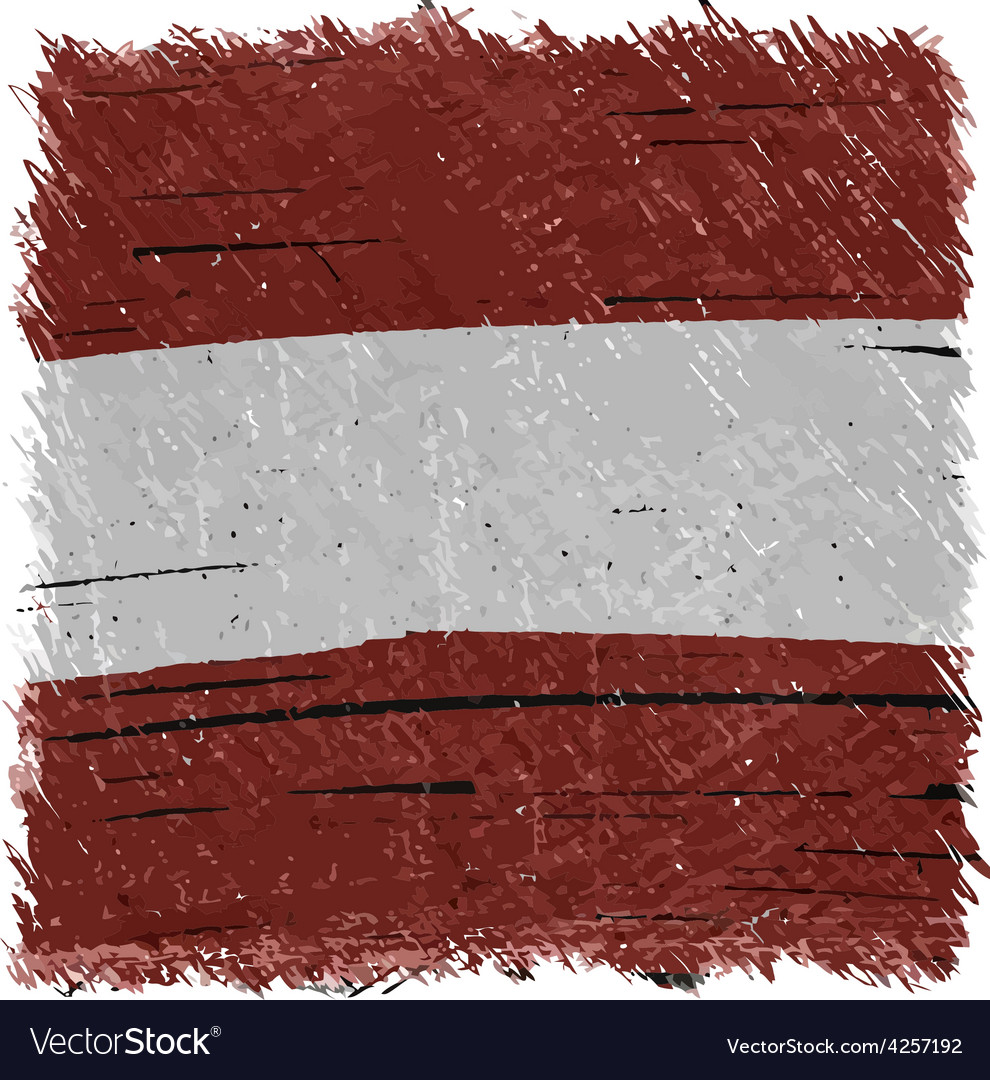 Flag of austria handmade square shape vector | Price: 1 Credit (USD $1)