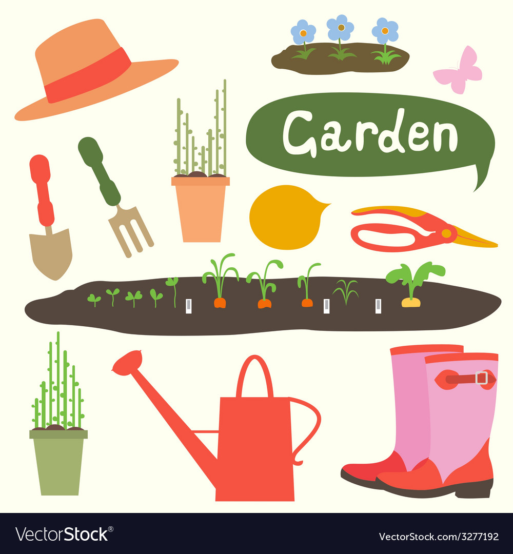 Gardening vector | Price: 1 Credit (USD $1)