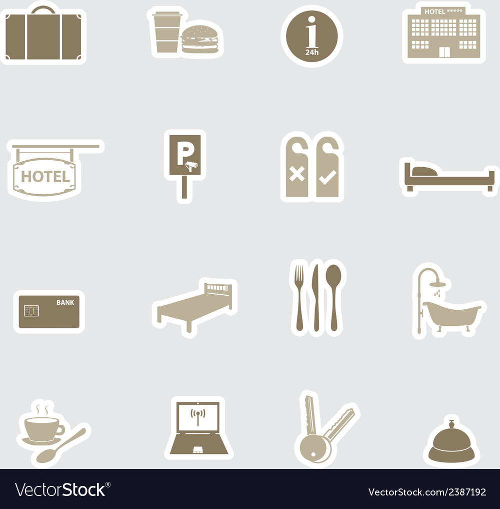 Hotel and motel stickers eps10 vector | Price: 1 Credit (USD $1)