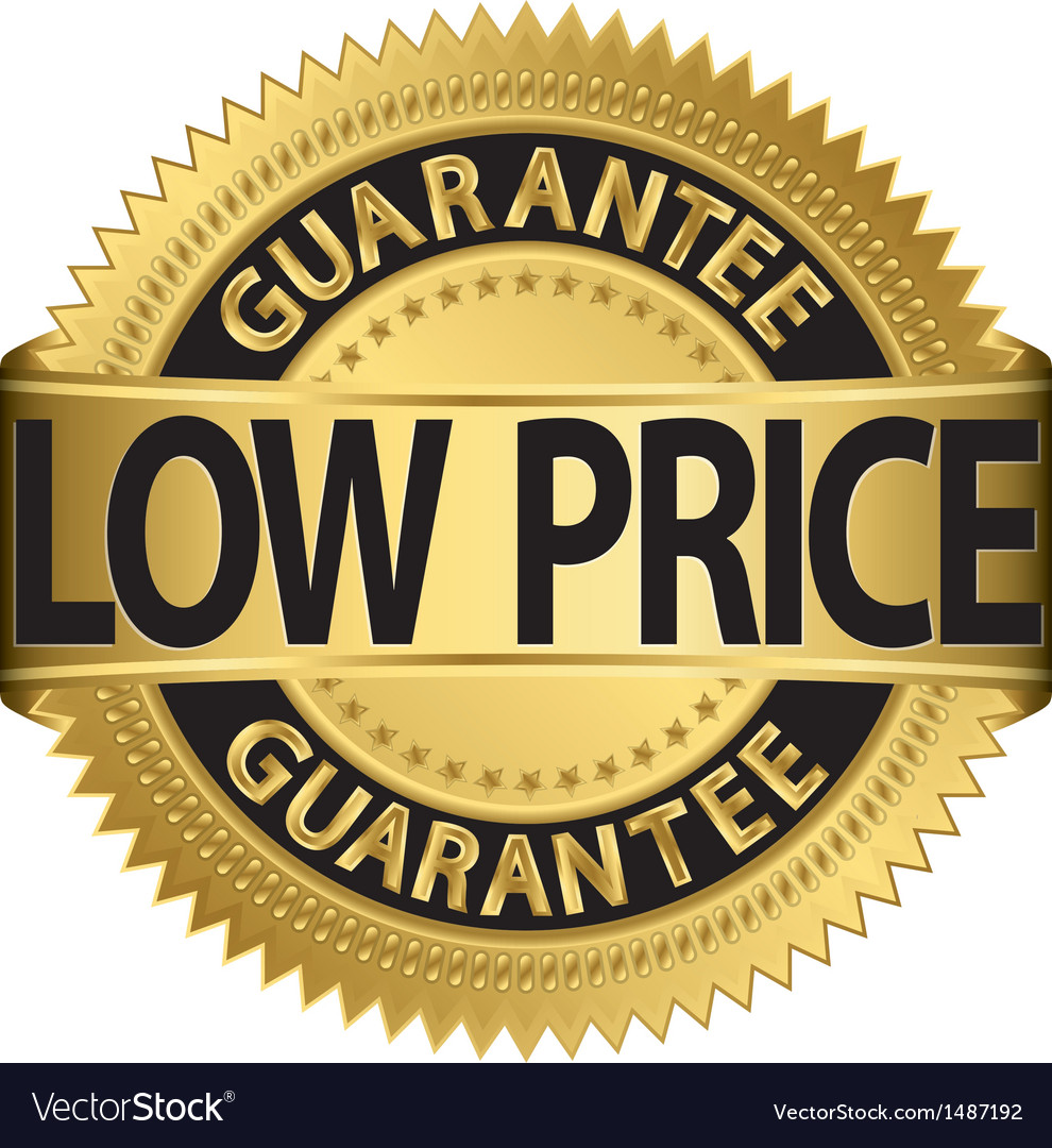Low price guarantee gold label vector | Price: 1 Credit (USD $1)