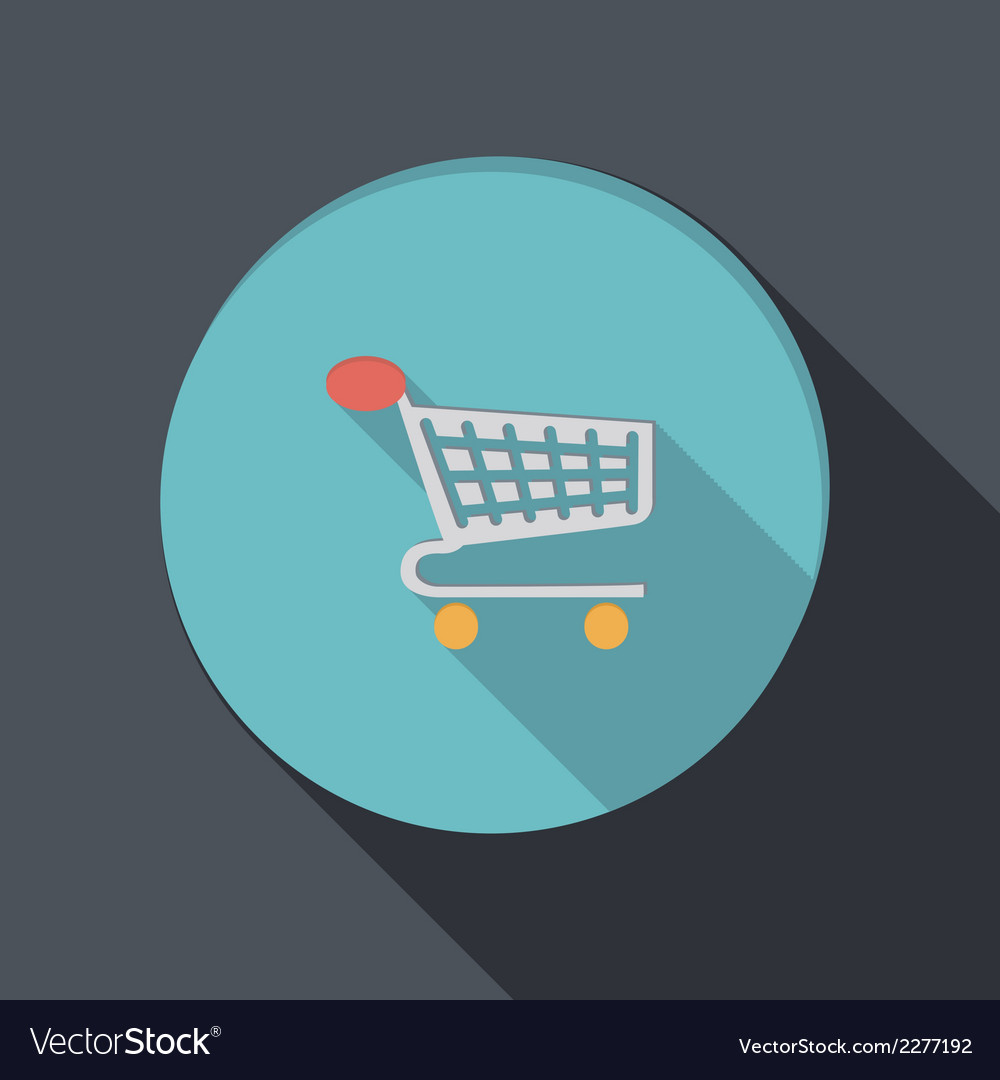 Paper flat icon cart online store vector | Price: 1 Credit (USD $1)