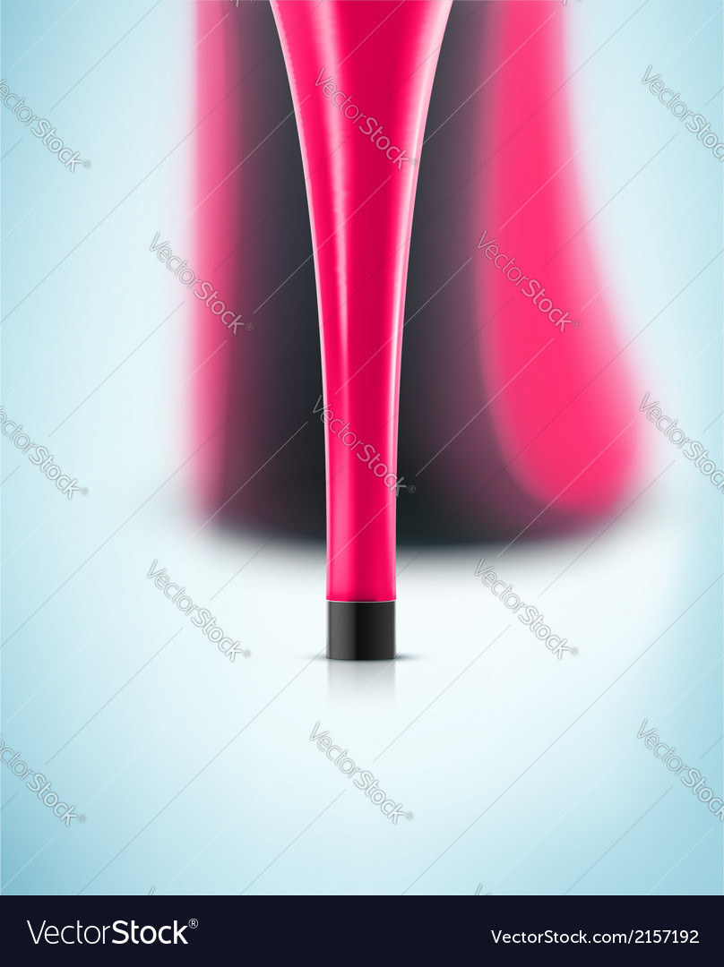 Pink heel vector | Price: 1 Credit (USD $1)
