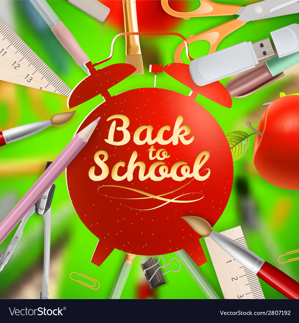Set of welcome back to school template eps 10 vector | Price: 1 Credit (USD $1)