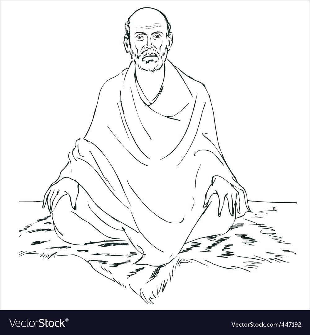 Sri narayana guru vector | Price: 1 Credit (USD $1)