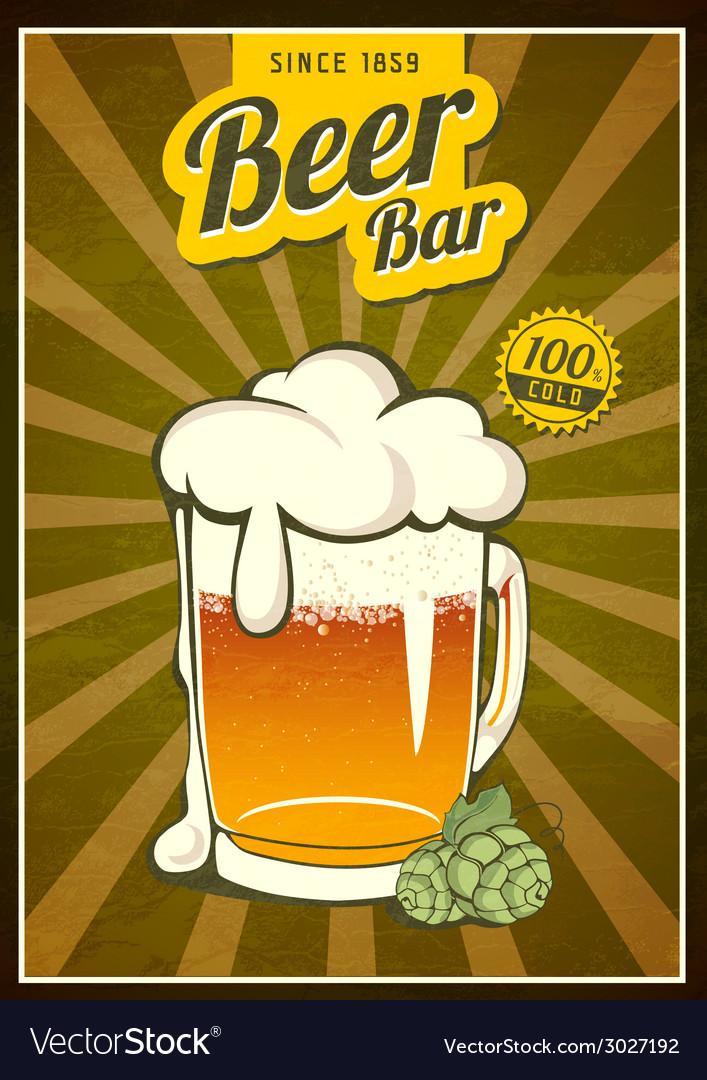 Vintage beer or brewery poster vector | Price: 1 Credit (USD $1)
