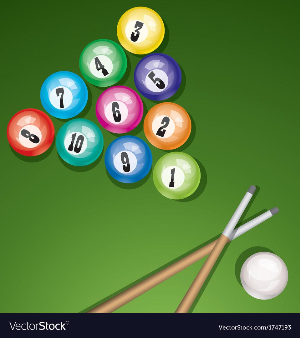 Billiard table with balls vector   Price: 1 Credit (USD $1)