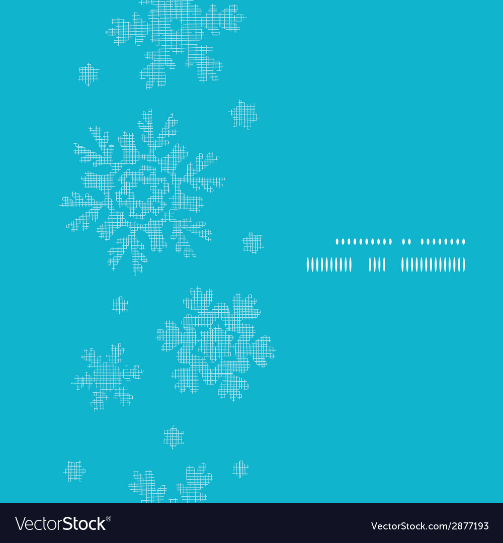 Blue lace snowflakes textile vertical frame vector | Price: 1 Credit (USD $1)