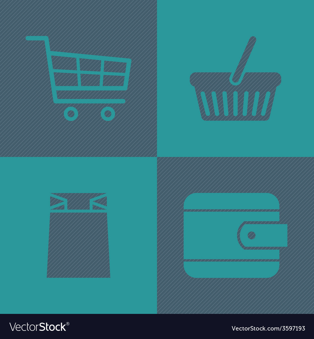 Flat shopping icons vector   Price: 1 Credit (USD $1)