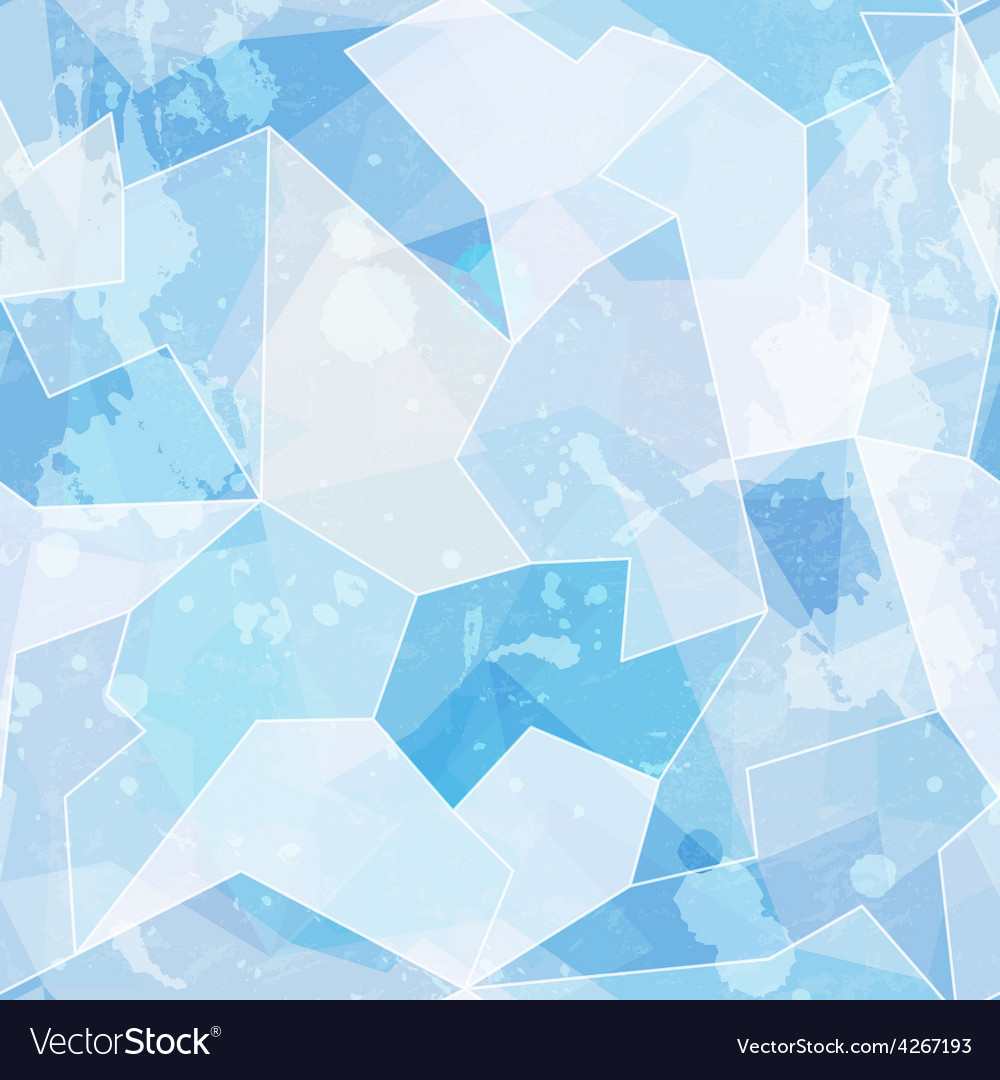 Ice seamless pattern with grunge effect vector