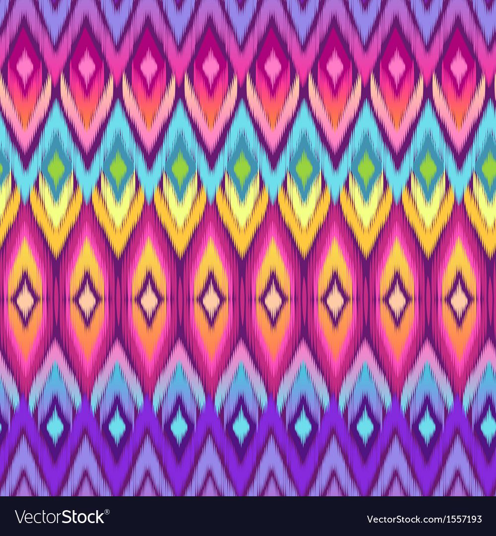 Rainbow ikat pattern vector | Price: 1 Credit (USD $1)