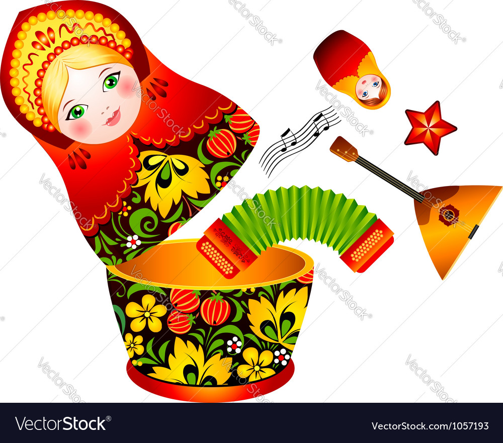Russian tradition matryoshka doll vector | Price: 1 Credit (USD $1)