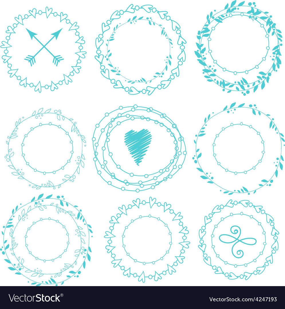 Set of hipster vintage design elements vector | Price: 1 Credit (USD $1)
