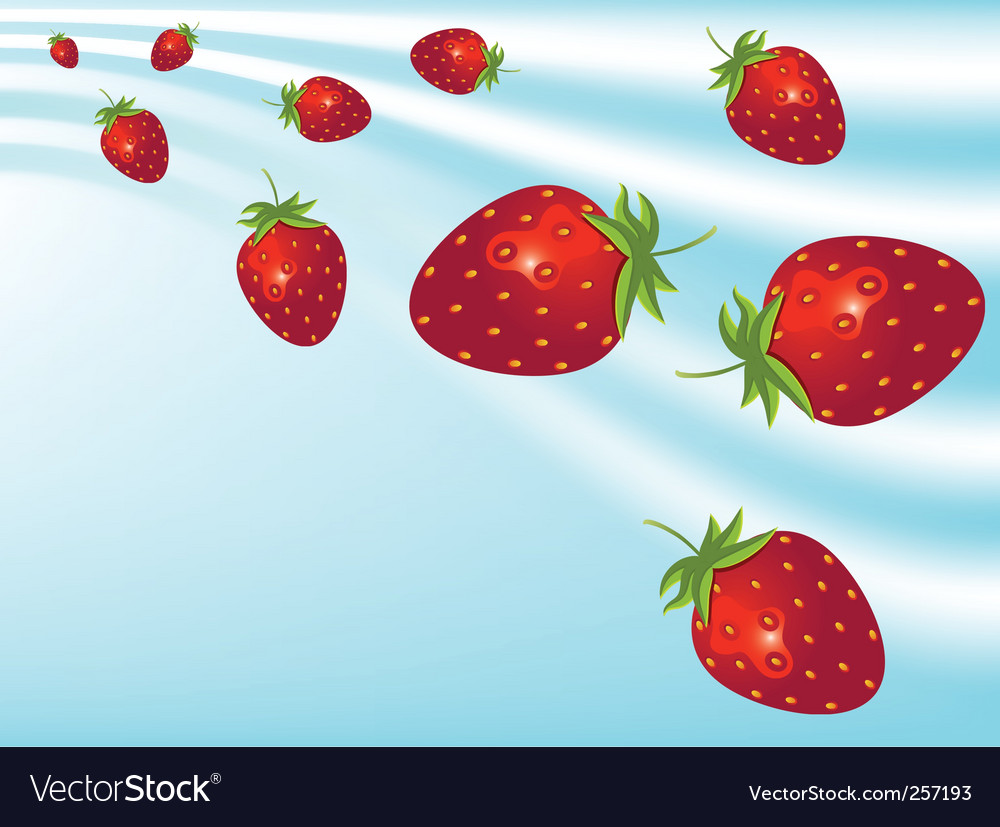 Strawberries vector | Price: 3 Credit (USD $3)