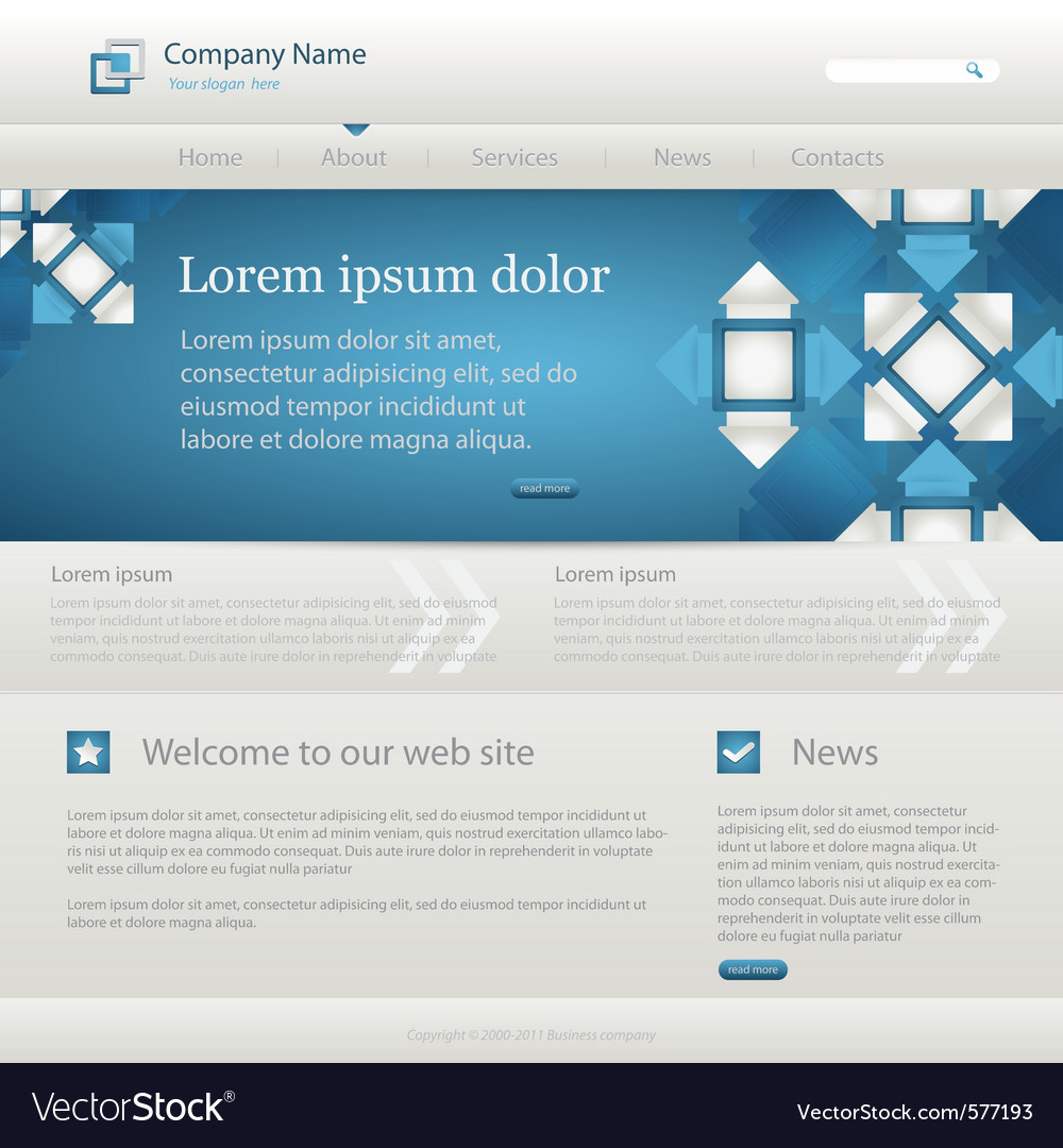Website creative template vector | Price: 1 Credit (USD $1)