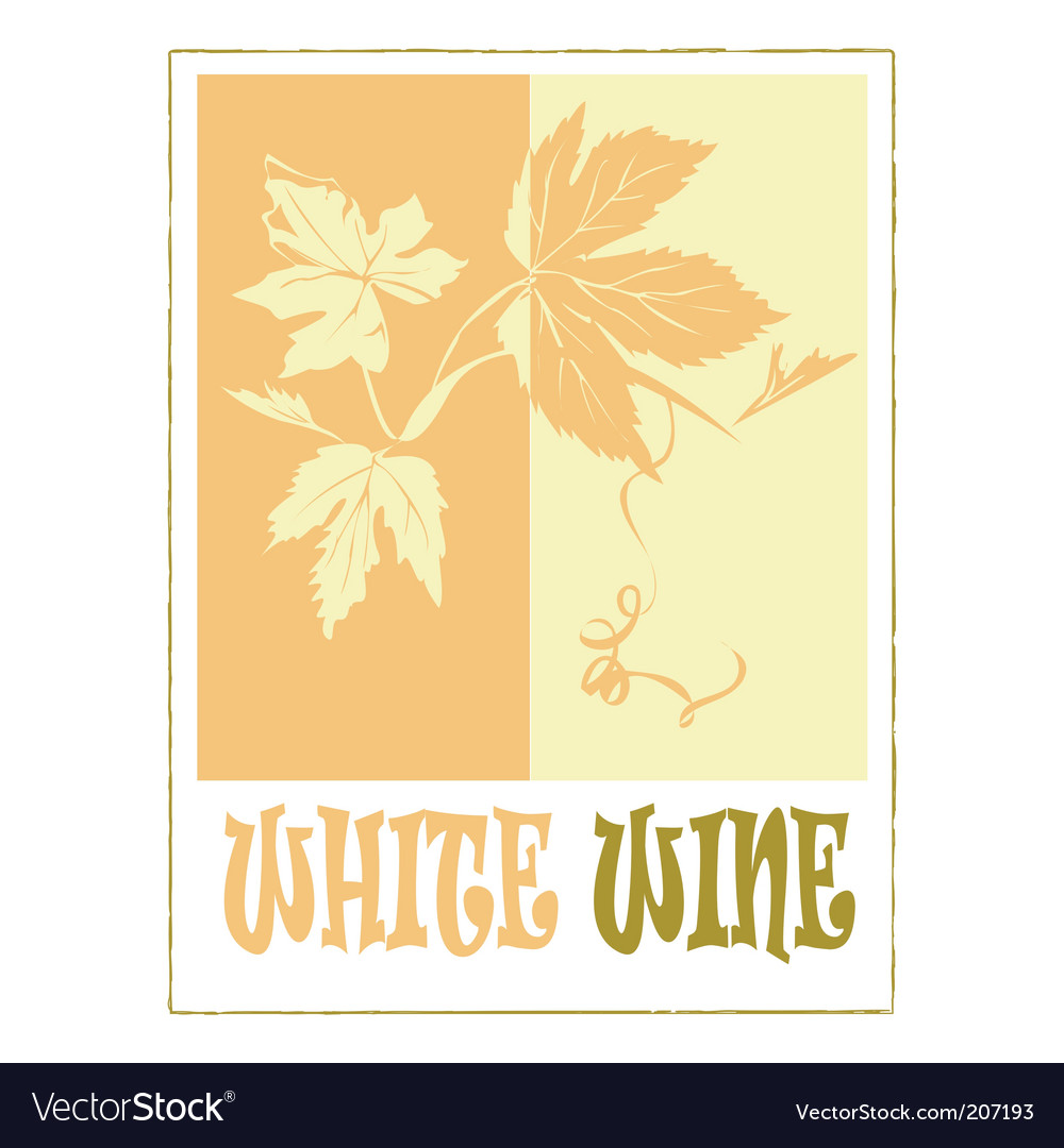 White wine label vector | Price: 1 Credit (USD $1)