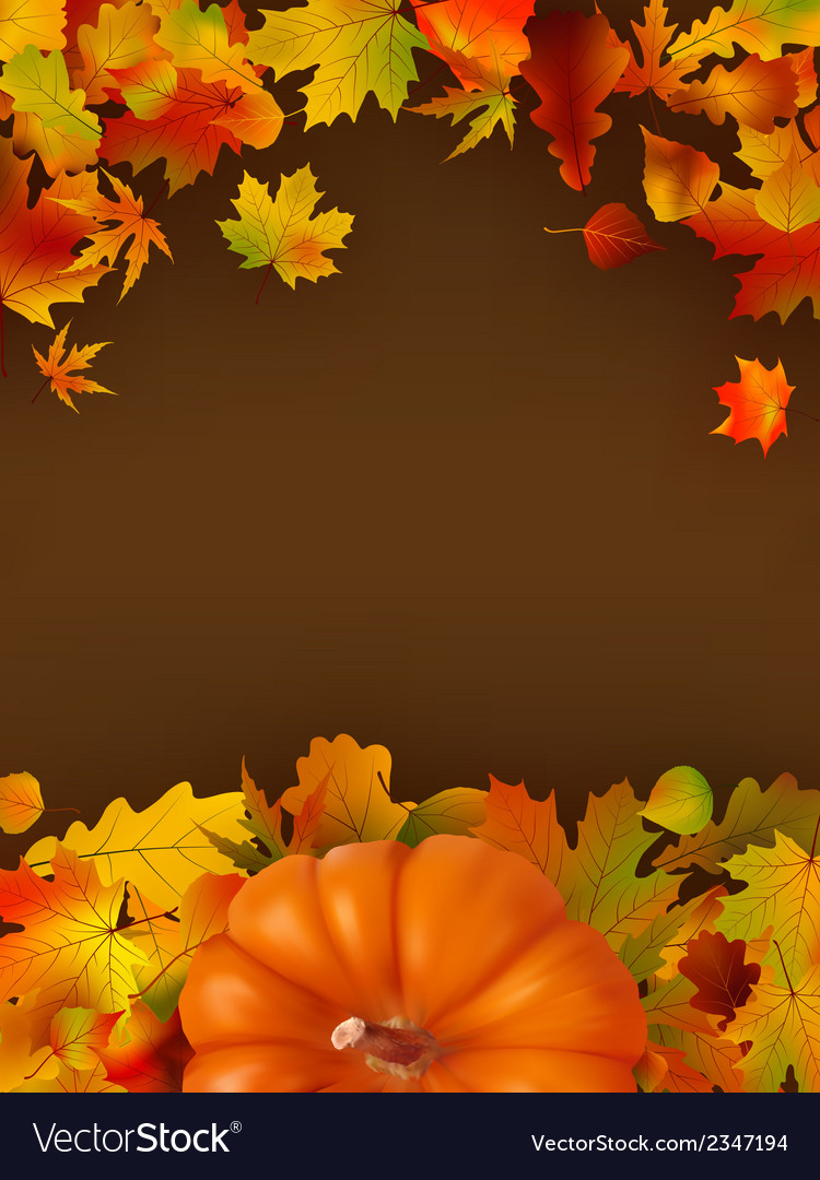Abstract autumn background with leaves eps 8 vector | Price: 1 Credit (USD $1)