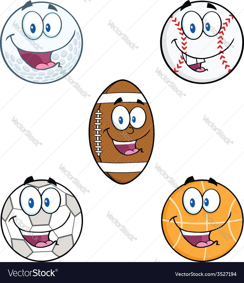 Cartoon sports balls vector | Price: 1 Credit (USD $1)