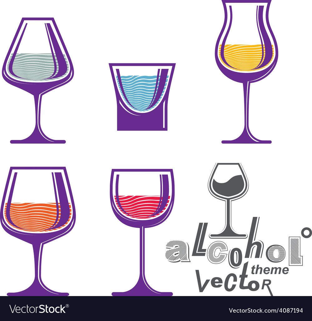 Colorful glasses vector | Price: 1 Credit (USD $1)