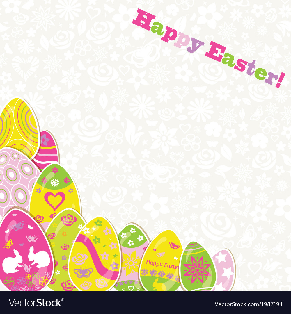 Easter background with paper eggs vector | Price: 1 Credit (USD $1)