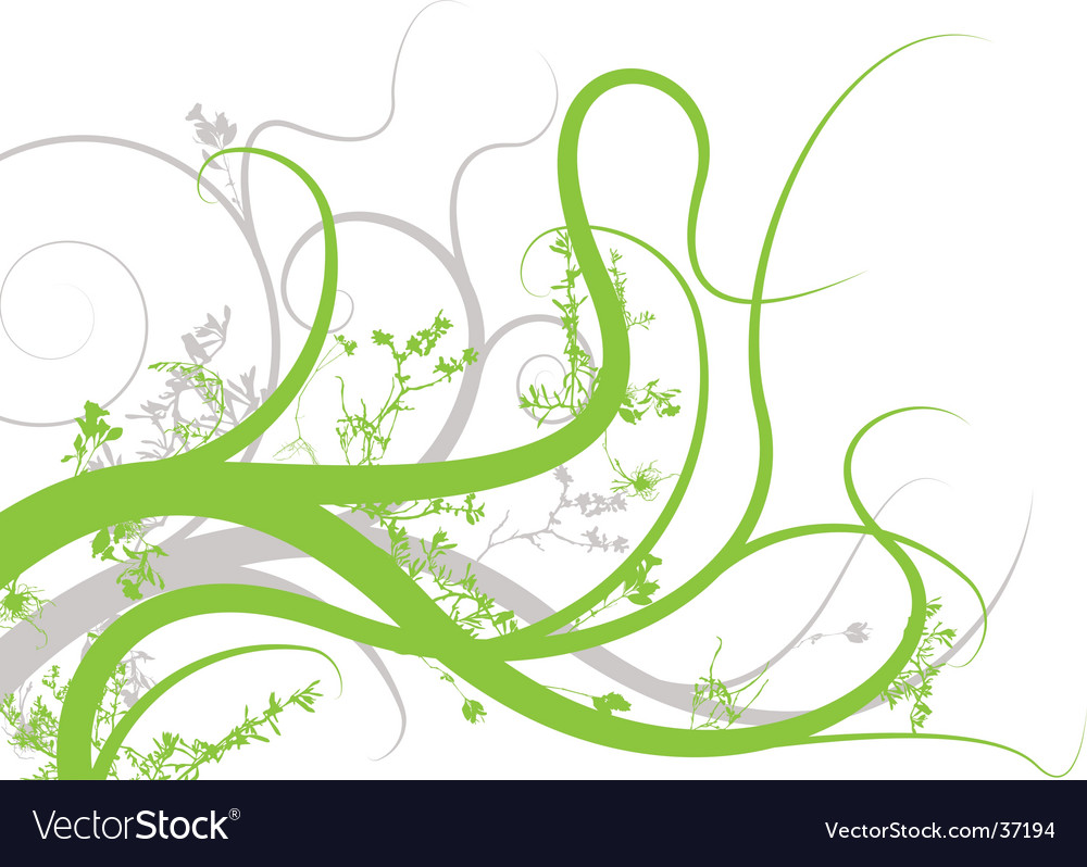 Floral reach vector | Price: 1 Credit (USD $1)