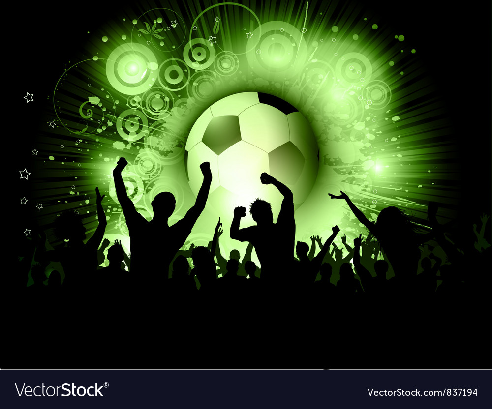 Football crowd vector | Price: 1 Credit (USD $1)