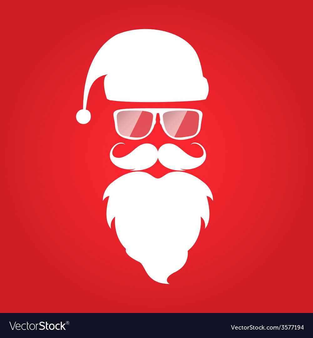 Hipster style christmas card design santa claus vector | Price: 1 Credit (USD $1)