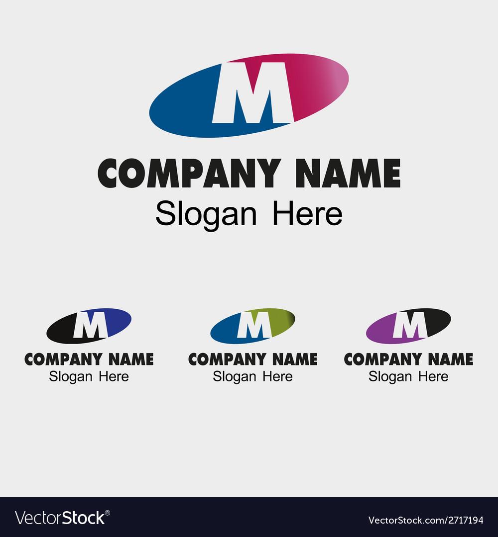 Letter m alphabet logo letter m icon vector | Price: 1 Credit (USD $1)