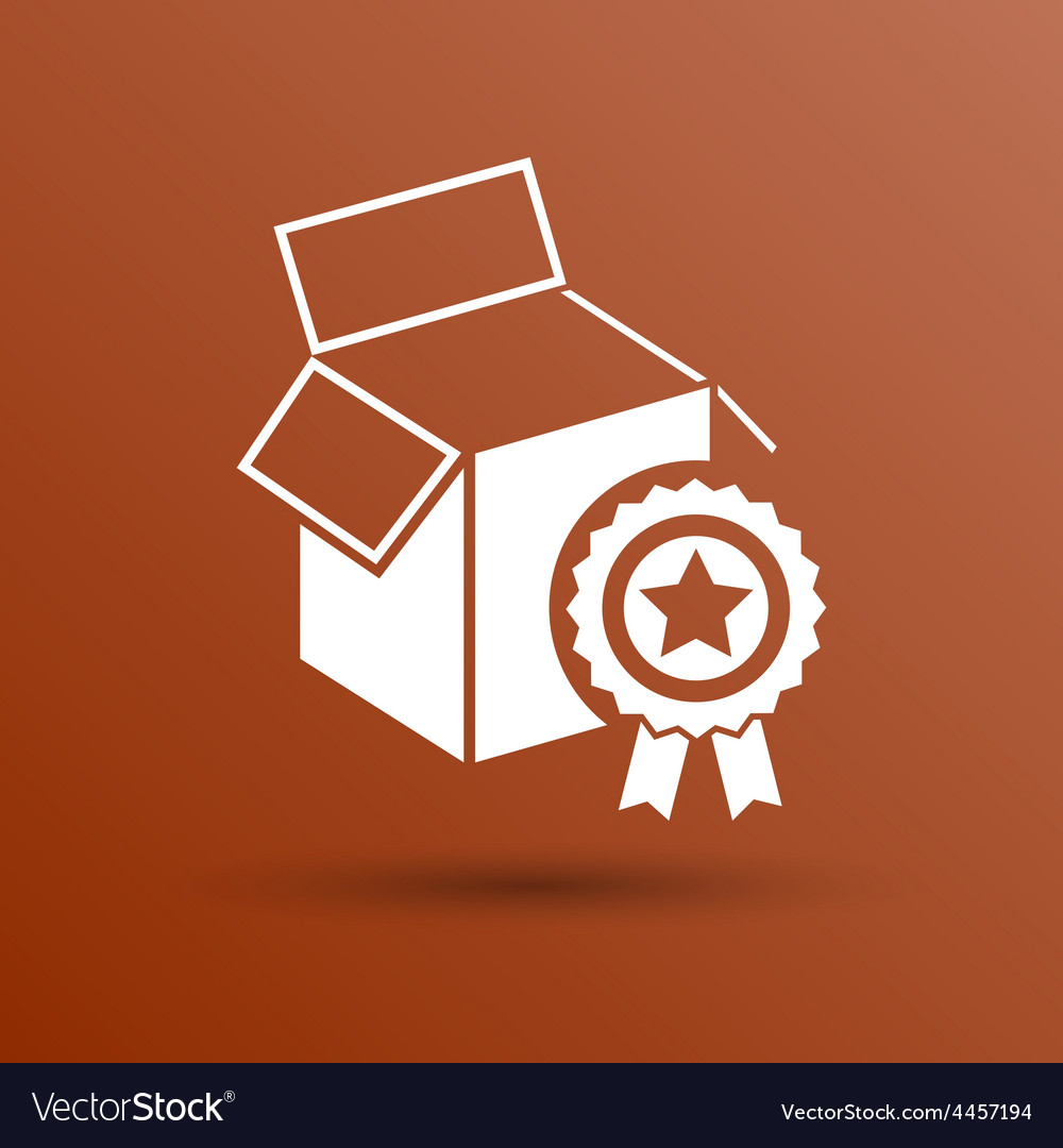 Premium box packing design isolated icon vector | Price: 1 Credit (USD $1)