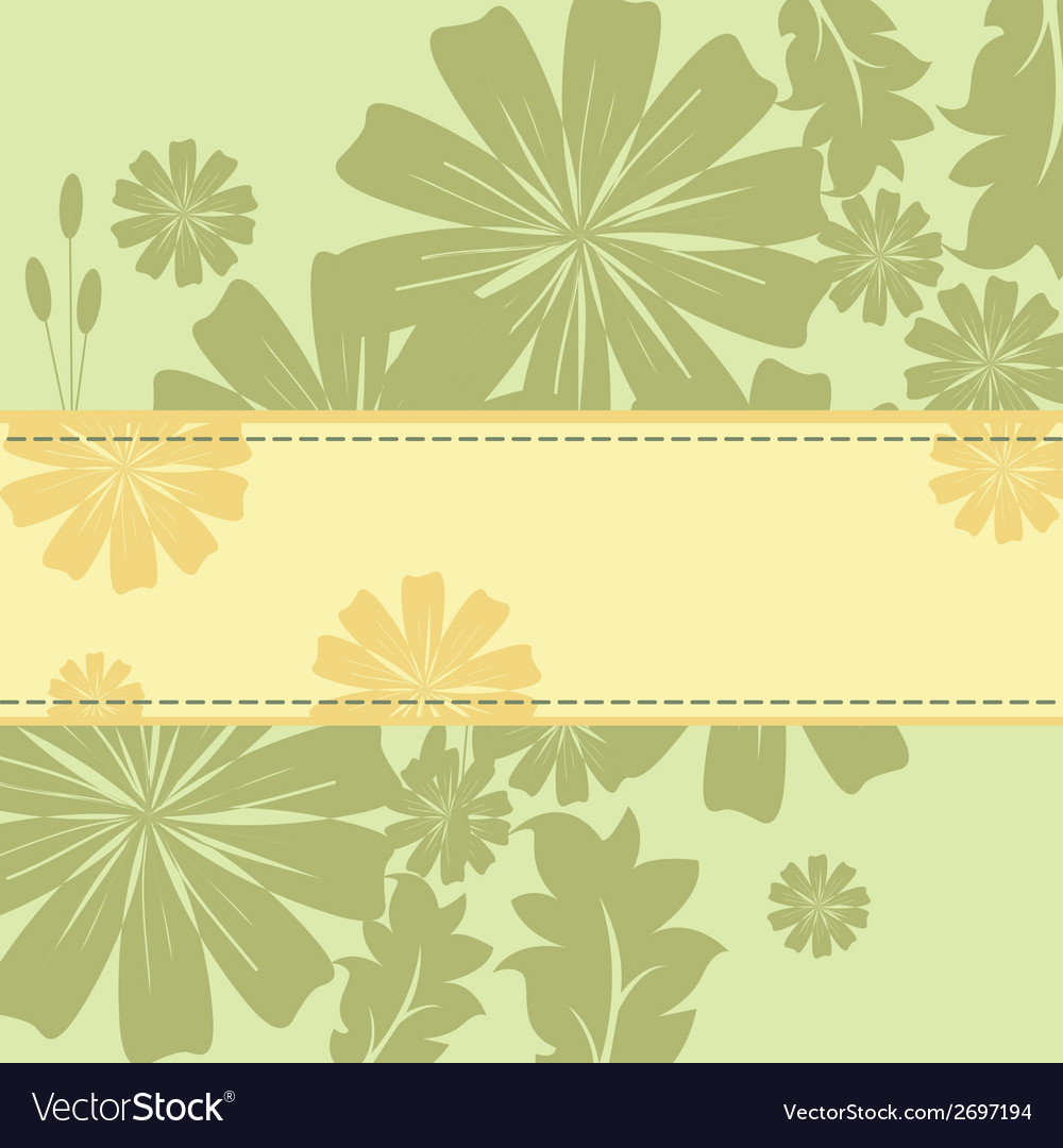 Spring flowers frame vector | Price: 1 Credit (USD $1)