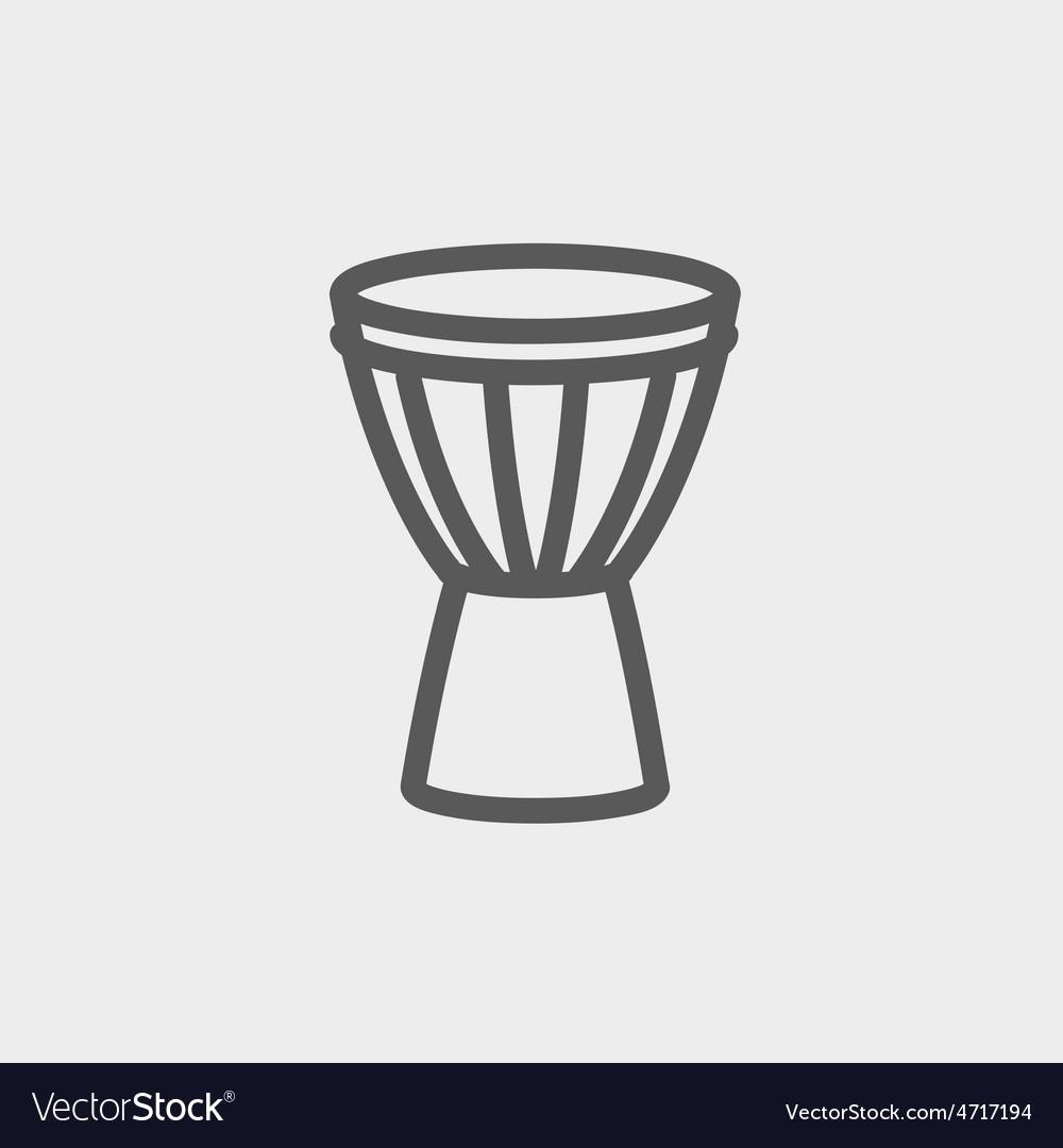Timpani thin line icon vector | Price: 1 Credit (USD $1)