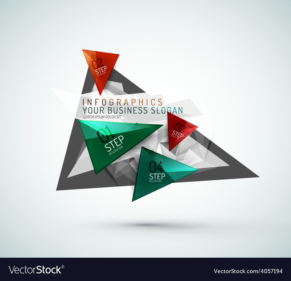 Triangle shape modern paper infographics vector   Price: 1 Credit (USD $1)
