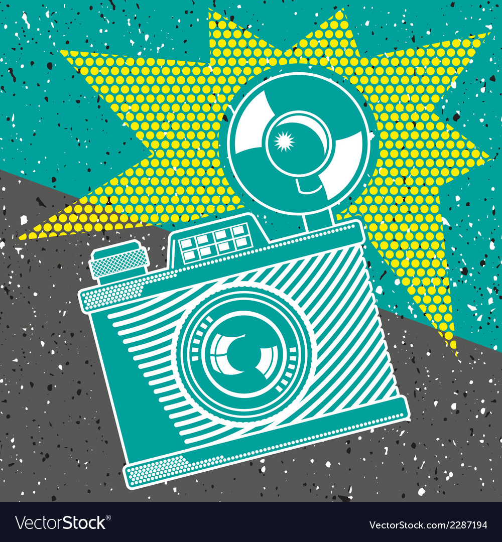 Vintage camera poster vector | Price: 1 Credit (USD $1)