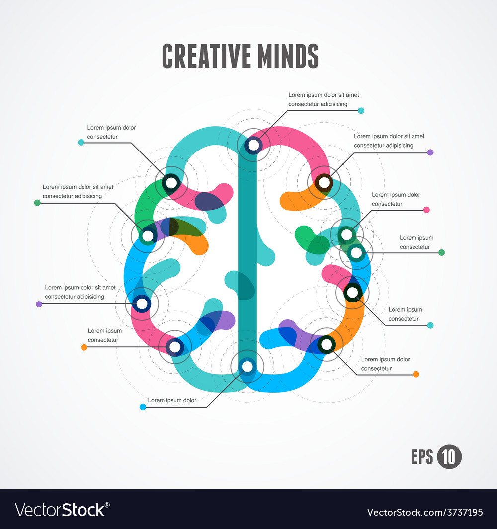 Brain infographic concept vector | Price: 1 Credit (USD $1)