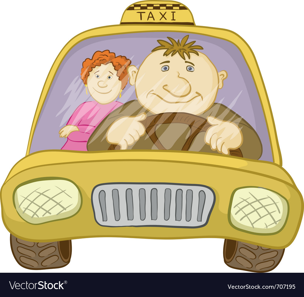 Car taxi vector | Price: 3 Credit (USD $3)