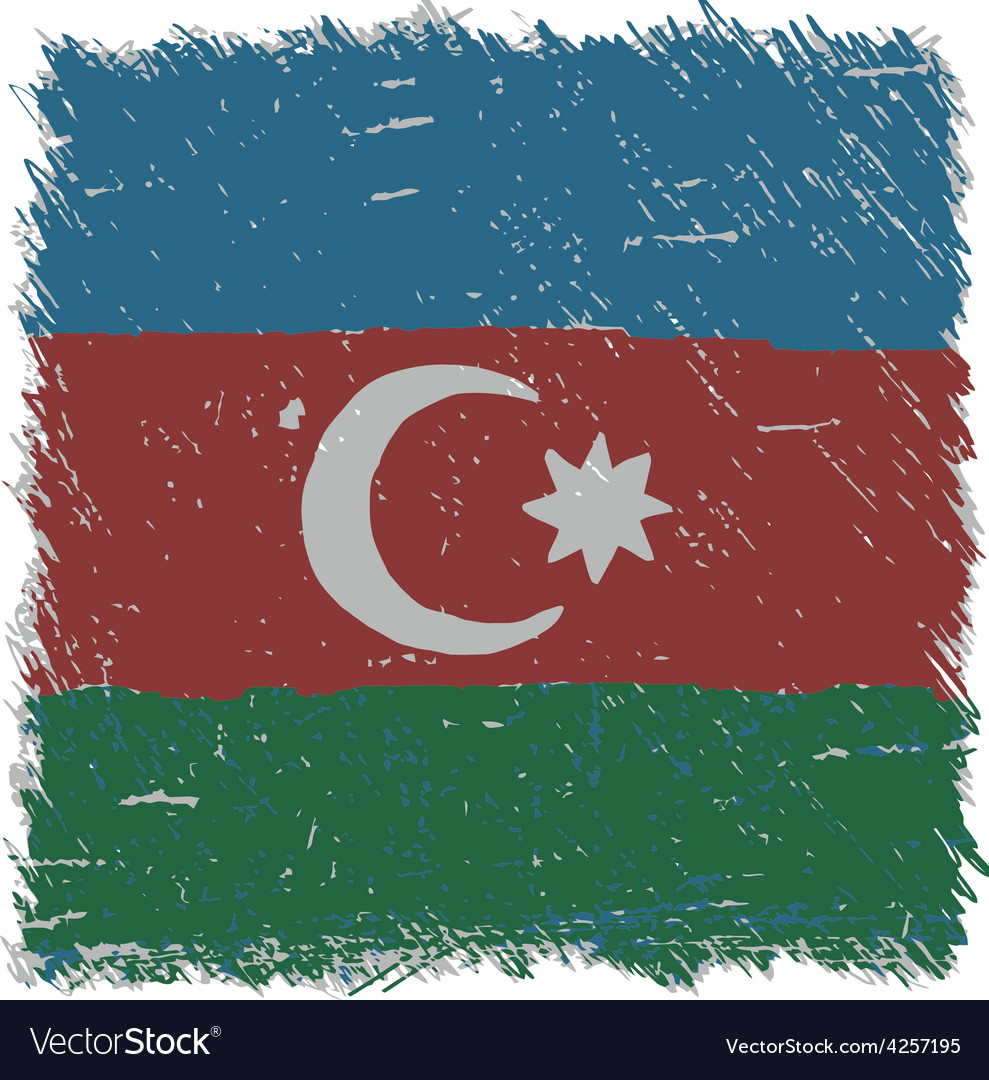 Flag of azerbaijan handmade square shape vector | Price: 1 Credit (USD $1)